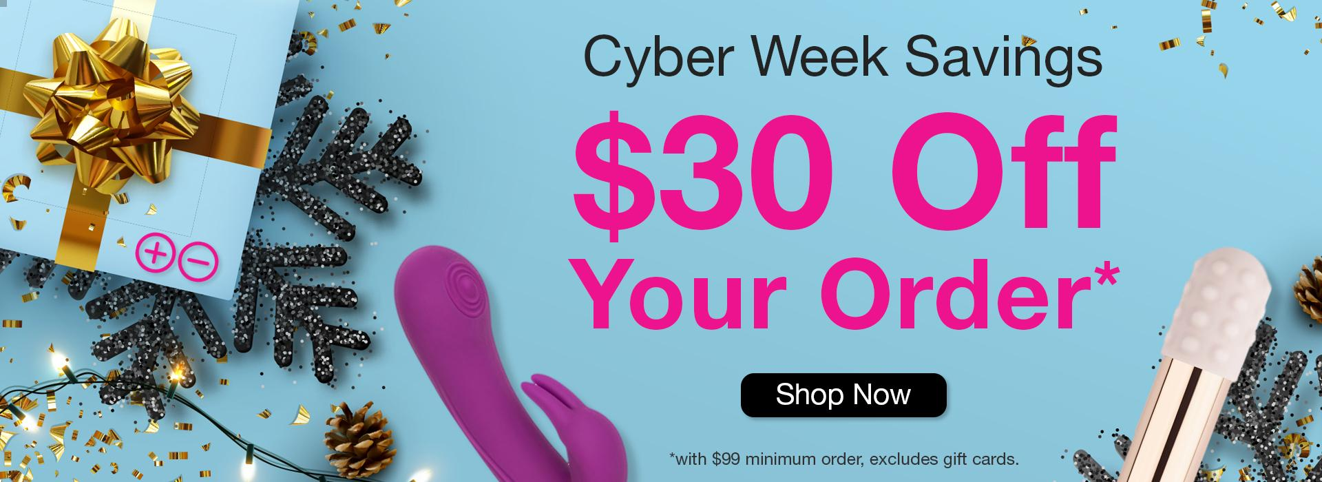 $30 off orders over $99 at Babeland through 12/9!