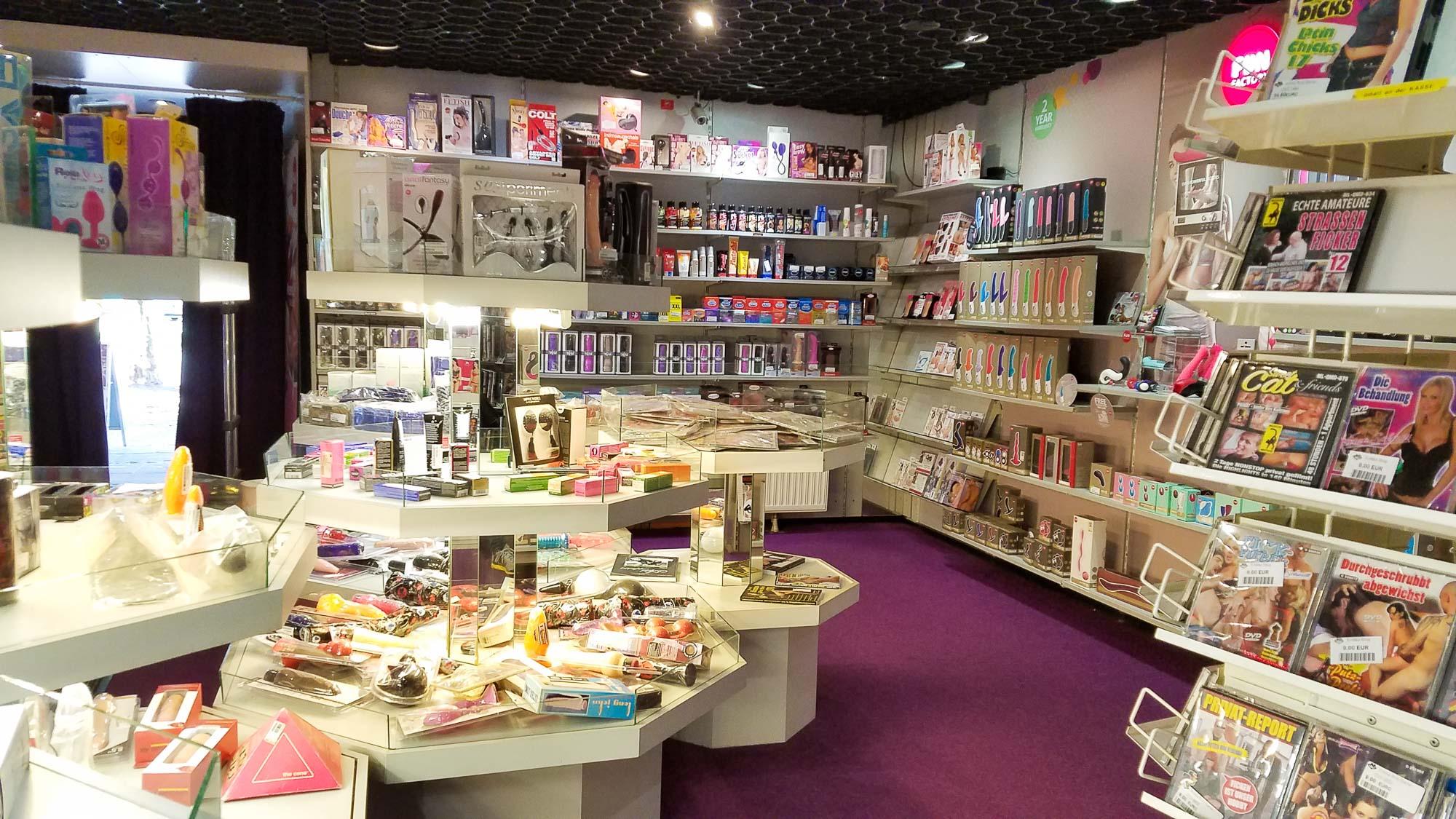 Inside Erotika-Shop in Bremen, Germany.