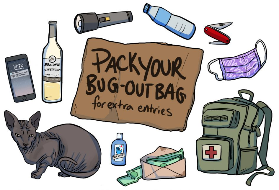 Epiphora's sex toy survival kits for the apocalypse giveaway: pack your bug-out bag for extra entries!