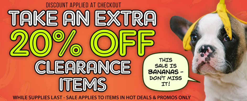 Take an extra 20% off clearance items at SheVibe while supplies last!